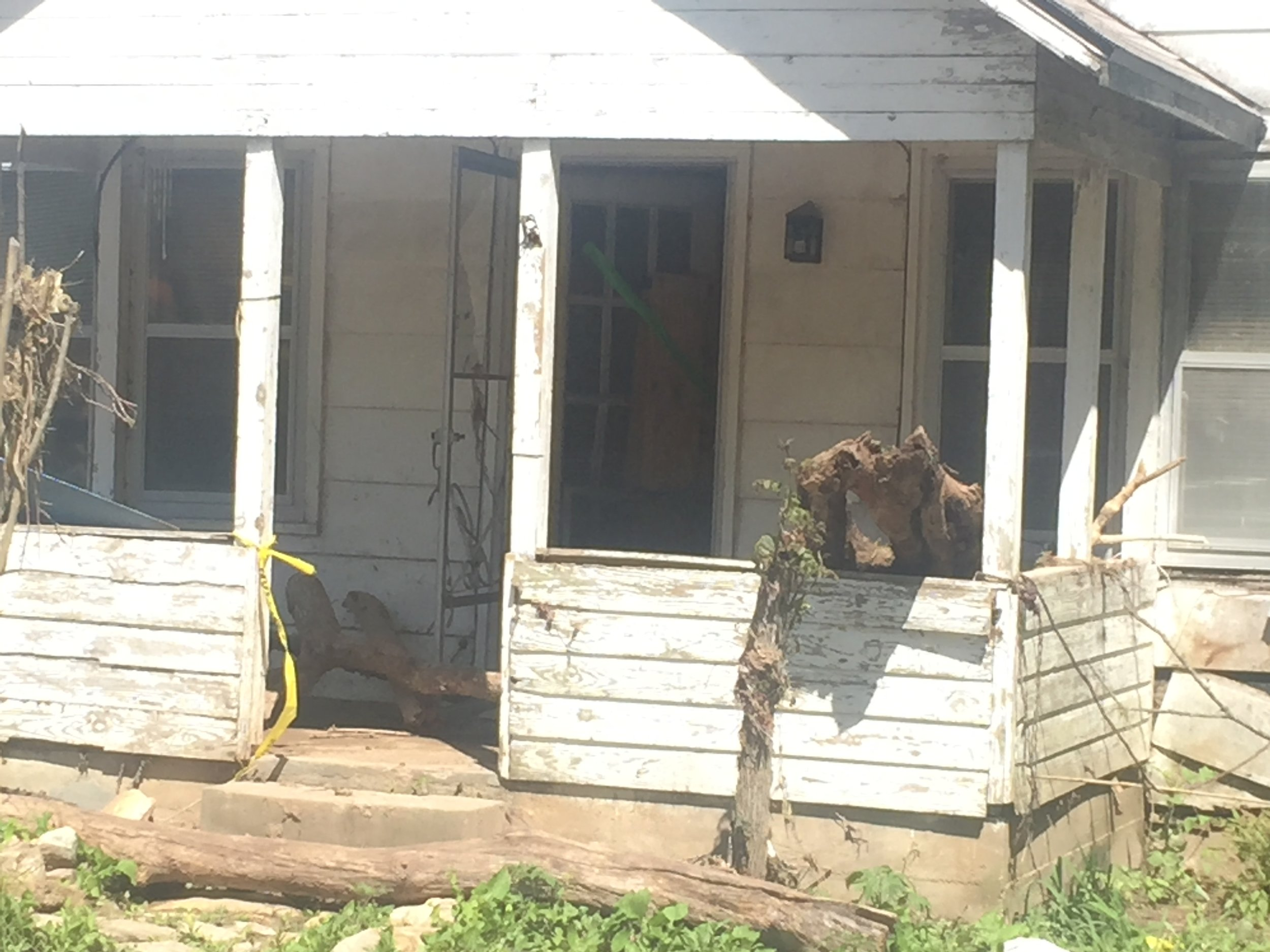 damaged home from flood