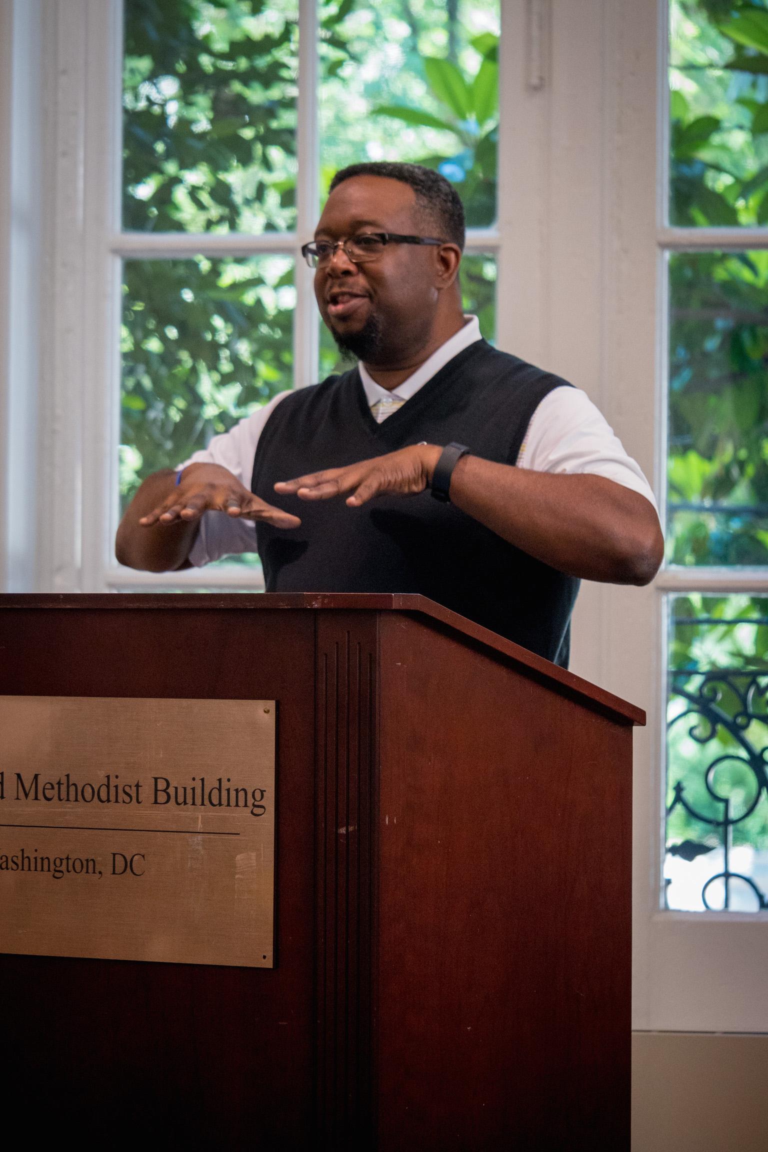 speaking to religious liberty advocates