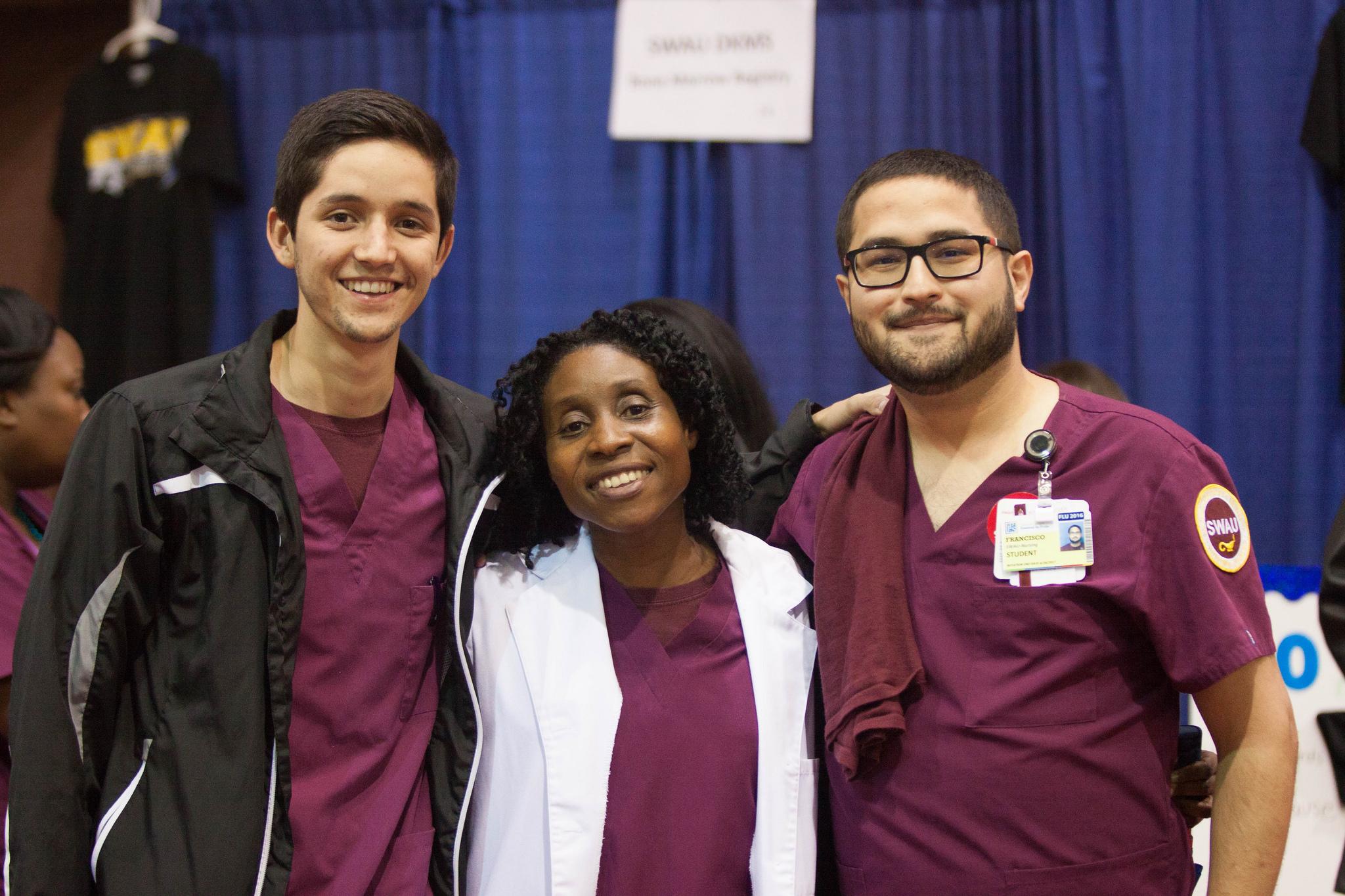 health fair students