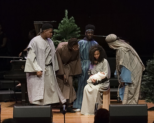 """Benton Harbor High School students participate in """"The Nativity Story."""""""