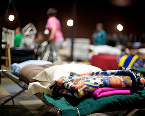 stock photo Rocky Mountain ACS church/school shelters