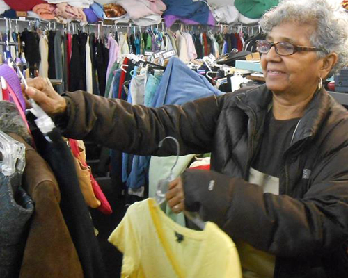 Adventist Community Services GW clothing shopper