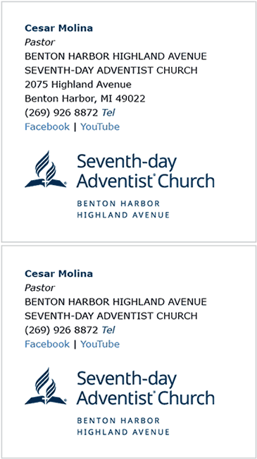 Local Church E-Signature Examples 1