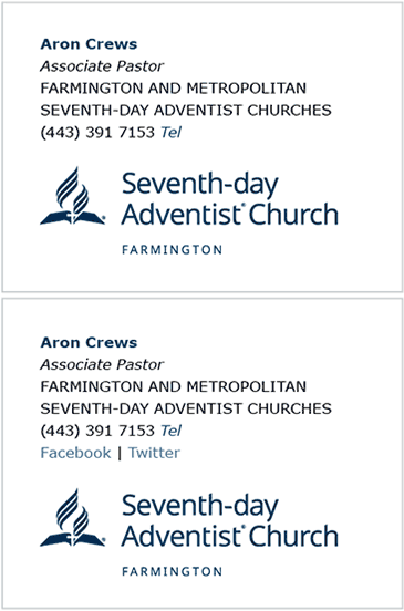Local Church E-Signature Examples 2